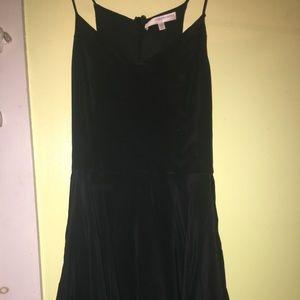 Apricot Lane Black Silky Mini Dress